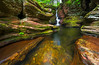 """<center><br><font size=""""4"""" color=""""white""""><b>""""Lines and Falls"""" - Ricketts Glen State Park, PA</b><br> </font> <br><font size=""""3"""" color=""""white""""> <u>Recommended Print sizes*</u>:<br>  4x6  