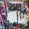 Students watch performers during a dance-off at the 2013 Spring Fest inside Wood Center.  Filename: LIF-13-3799-94.jpg