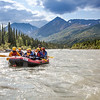 Participants in a UAF Outdoor Adventures day-long raft trip paddle down the Nenana River.  Filename: OUT-12-3492-084.jpg