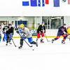 Intramural hockey action on a Tuesday night at the Patty Ice arena.  Filename: LIF-14-4111-358.jpg