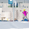 One of the leaders in the second annual Troth Yeddha' Park Snowshoe Scramble makes her way towards the museum Saturday, March 1 to help raise awareness for the proposed park to help celebrate Alaska's Native culture.  Filename: LIF-14-4079-29.jpg
