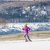 One of the leaders in the second annual Troth Yeddha' Park Snowshoe Scramble makes her down Yukon Drive Saturday, March 1 to help raise awareness for the proposed park to help celebrate Alaska's Native culture.  Filename: LIF-14-4079-36.jpg