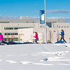 Participants in the second annual Troth Yeddha' Park Snowshoe Scramble make their way towards the museum Saturday, March 1 to help raise awareness for the proposed park to help celebrate Alaska's Native culture.  Filename: LIF-14-4079-46.jpg