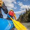 Participants in a UAF Outdoor Adventures day-long raft trip paddle down the Nenana River.  Filename: OUT-12-3492-125.jpg