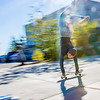 Skateboarders hone their skills in front of the Rasmuson Library on a fine September afternoon.  Filename: LIF-12-3540-25.jpg