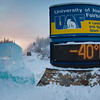 Extreme winter temperatures are part of the UAF experience.  Filename: LIF-12-3269-08.jpg