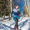 One of the participants in the second annual Troth Yeddha' Park Snowshoe Scramble makes her way towards the home stretch  Saturday, March 1 to help raise awareness for the proposed park to help celebrate Alaska's Native culture.  Filename: LIF-14-4079-62.jpg