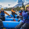 Participants in a UAF Outdoor Adventures day-long raft trip paddle down the Nenana River.  Filename: OUT-12-3492-077.jpg