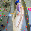 Graduate student Stephany Jeffers practices her silk climbing skills in the SRC.  Filename: LIF-13-3819-21.jpg