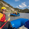 Participants in a UAF Outdoor Adventures day-long raft trip paddle down the Nenana River.  Filename: OUT-12-3492-185.jpg