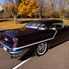 Classic car during fall colors