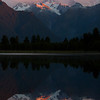 Reflection of Mount Cook in Lake Matheson, New Zealand