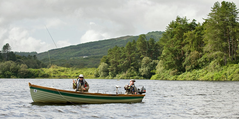 Lough Eske - fishing for sea trout, brown trout and salmon on Lough Eske, Donegal, Co Donegal, Ireland