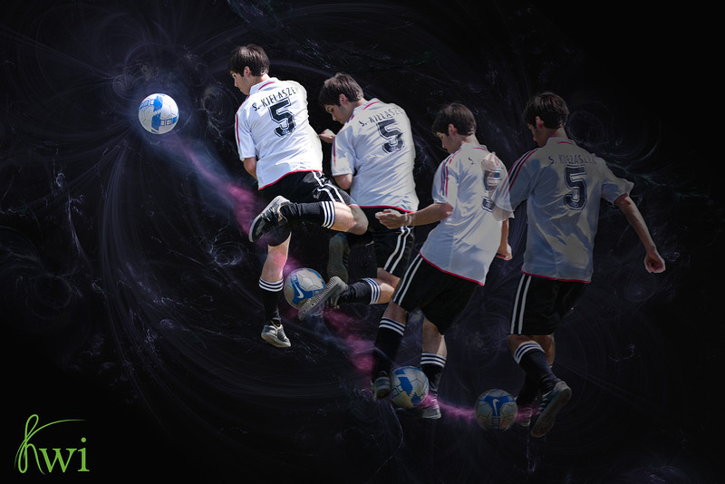 Sports composite for a soccer player