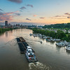 "<center> <br><font size=""4"" color=""white""><b>""31st Street Barge "" - Pittsburgh, Allegheny River</b> </font> <br><font size=""3"" color=""white""> <u>Recommended Print sizes*</u>:  4x6  