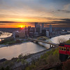 "<center> <br><font><b>""Early to Rise"" - Pittsburgh, Mount Washington</b> </font> <br><font> <u>Recommended Print sizes*</u>:  4x6  