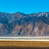 Eastern Sierra Nevada Mountains seen from across Owens Lake, California