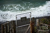 A private gate of a beach house along the Oregon Coast shot between Cape Meares and Oceanside  © Copyright Hannah Pastrana Prieto