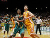 08 Dec 2007 Townsville, Qld - Townsville's Galen Young and Singapore's Chris Cameron fight for a rebound - Townsville Crocodiles v Singapore Slingers (Townsville Entertainment & Convention Centre) - PHOTO: CAMERON LAIRD (Ph: 0418 238811)