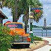Lake Sumter Landing Orange Truck, The Villages