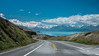 Winding roads along Lake Pukaki