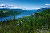 View of Columbia River Gorge from the Portland Women's Forum State Scenic Viewpoint<br /> <br /> © Copyright Hannah Pastrana Prieto