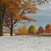 Early fall snow at Crex Meadow campgrounds.