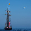 Tall ship leaving Duluth harbor.