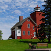 Two Harbors Light Station in the summer time.