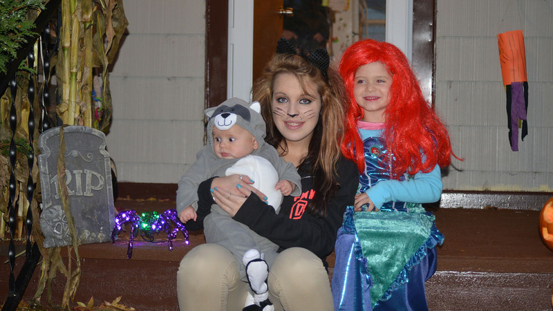 James C, Amber & Ruby ready for Halloween.