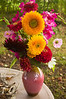 bouquet, late summer flowers, sunflowers, gladiolus, cosmos, zinnias, dahlias