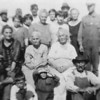 "Much of this photograph is out of focus; however, it looks like David A Durham seated on the ground in front at right; we believe that's his wife, Allie (Norman) Durham seated behind him.    As for the rest of the group….  If you believe you can help with identification, please send us an <a href=""mailto:galeymedia@gmail.com""><b><i>e-Mail</i></b></a>.  Thanks!"