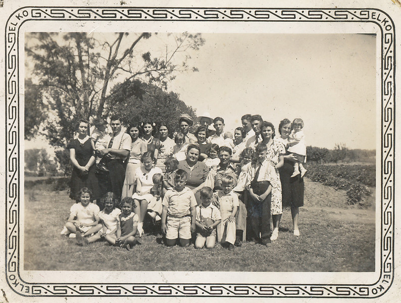 Joe and Lena Marcotte's kids and grandkids, ca 1940.