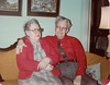 Clarence A Barry and wife Edith Foster Barry 1978