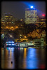 Nightscape: Sydney Ferry at Neutral Bay Ferry Wharf, from Kurraba Point Reserve