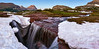 """Triple Falls"" <br><br> Glacier National Park, MT<br><br> Technical Details: Shot with Canon 30D and Canon 10-22mm lens at F10 and 1/8.    Panorama created from 10  vertical shots. <br><br> <br><center><a><img src=""/photos/604338366_ecXJp-M.gif"" border=""0""></a></center>"