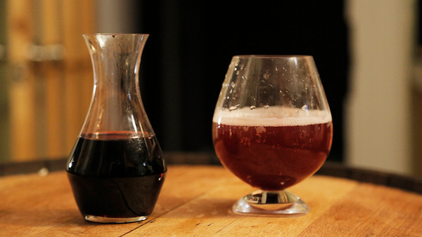 MPN/Courtesy photo Aronia juice,left, adds more than color to a light beer, it also adds antioxidants for a healthy cocktail, right.