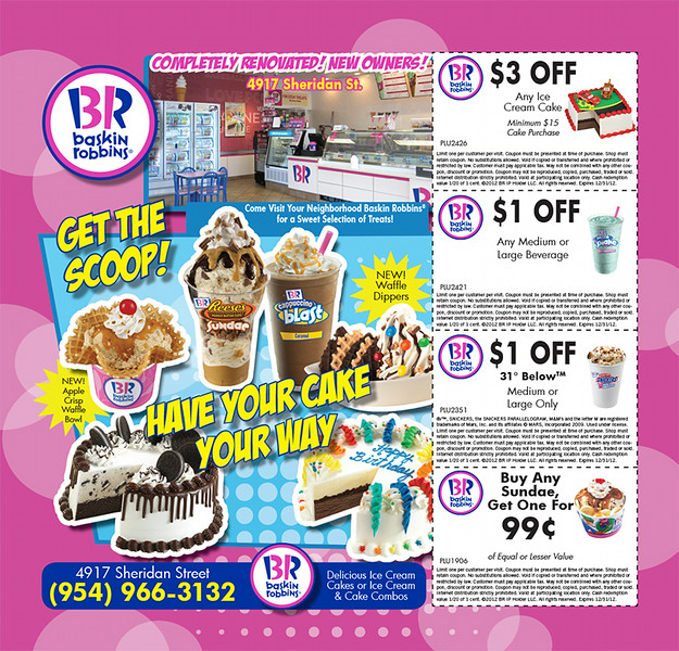 Baskin Robbins-8x8-Get The Scoop-Sharp Saver Magazine Ad