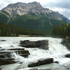 Mt. Kerkeslin and Athabasca Falls on the Upper Athabasca River