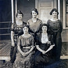 Taken in August of 1920 for Isaac and Sabina's 50th Wedding Anniversary.  Left to right, back row:  Mary, Sarah, Katherine.  Front:  Dorothy and Neppie.