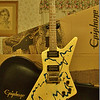 1984 Gibson Explorer, Blue Splash Finish, Artist Signed