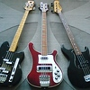 Three Bass Guitars