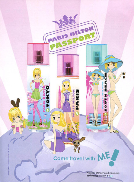 PARIS HILTON Passport (Tokyo - Paris - South Beach) 2011 US (Macy's stores) 'Come travel with me!'