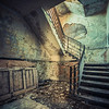 derelict staircase, the beauty of decay