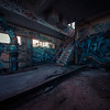 the abandoned factory tagged to death.