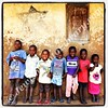 Children in front of (Rabbi) Samson Mugambe house  Namanyoni Village, Mbale, Uganda