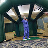 "Golfers try out ""Boom Room"" in Clubhouse with Will Scarborough"