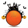 14964218-halloween-card-with-pumpkin-and-ghost-castle-over-white