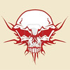 727620-vector-illustration-of-human-skull-with-tribal-fire-ornaments