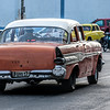 Orange American Taxi in Havana